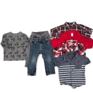 18 Month Baby Boy Jeans & Shirt Lot EUC